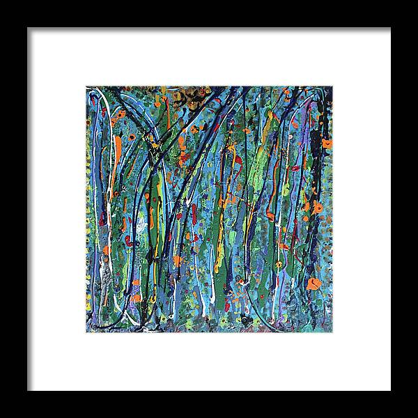 Bright Framed Print featuring the painting Mid-Summer Night's Dream by Pam Roth O'Mara