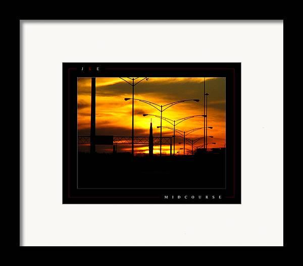 Rocket Framed Print featuring the photograph Midcourse by Jonathan Ellis Keys