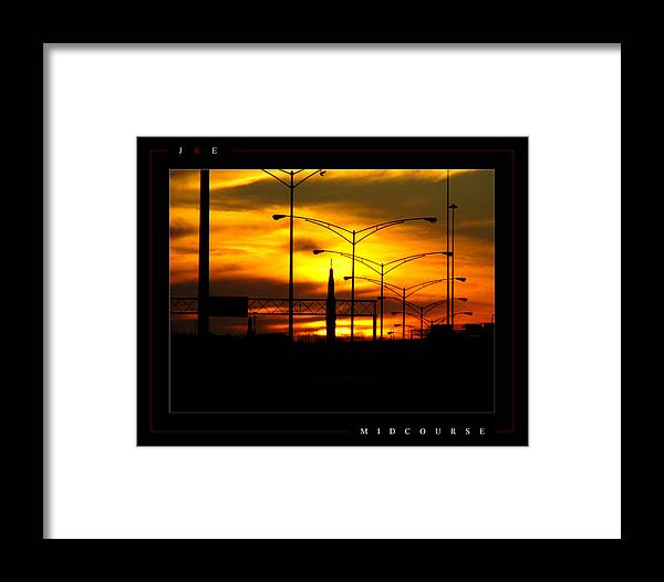 Rocket Framed Print featuring the photograph Midcourse by Jonathan Ellis Keys