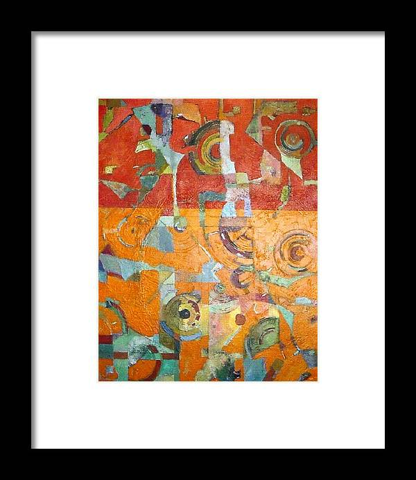 Abstract Framed Print featuring the painting Midday In The Sonoran Desert by Bernard Goodman