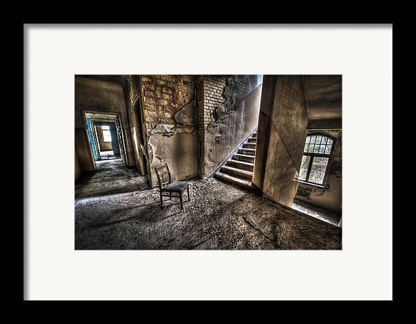 Room Framed Print featuring the photograph Middle Floor Seating by Nathan Wright