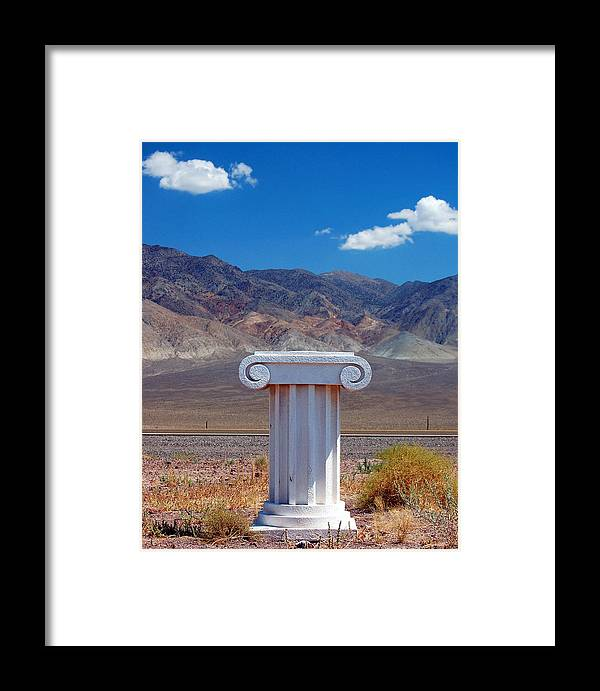 Columns Framed Print featuring the photograph Middle Of Nowhere by Heather S Huston