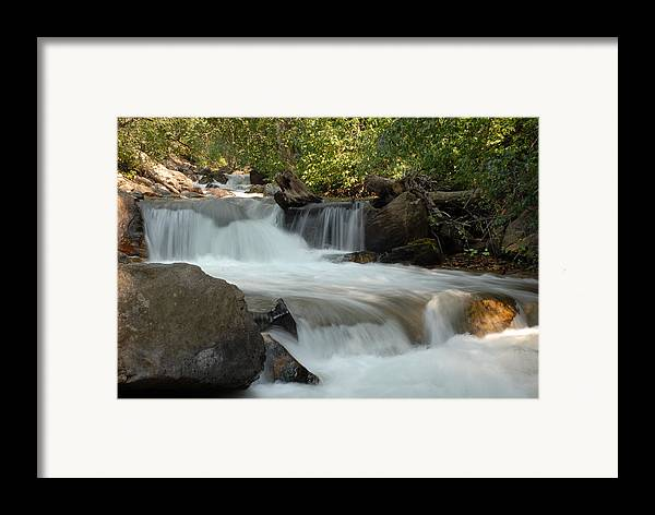 Cascade Framed Print featuring the photograph Middle Provo River Cascade by Dennis Hammer