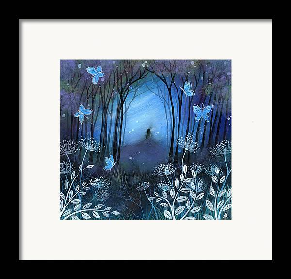 Landscape Framed Print featuring the painting Midnight by Amanda Clark