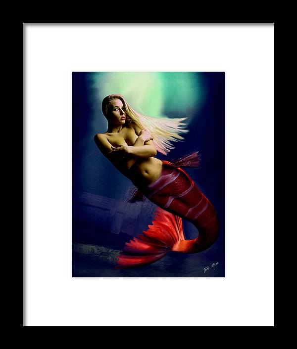 Erotic Framed Print featuring the painting Midnight Delight by Tray Mead