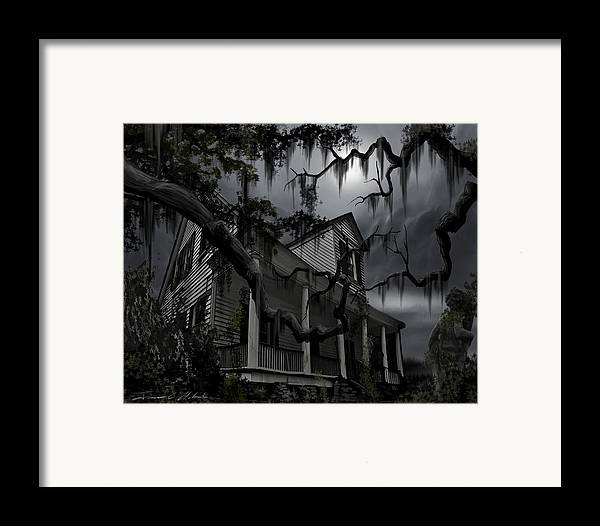 Ghosts Framed Print featuring the painting Midnight In The House by James Christopher Hill