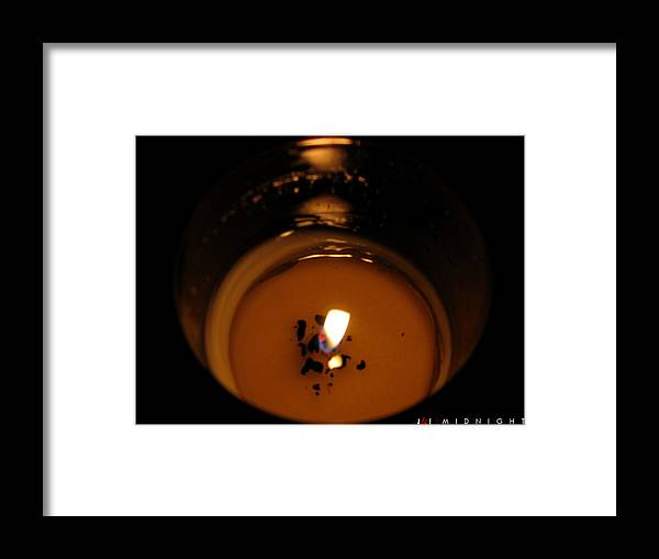 Candle Framed Print featuring the photograph Midnight by Jonathan Ellis Keys