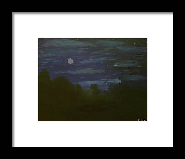 Stars Framed Print featuring the painting Midnight Moon by Danny Magers