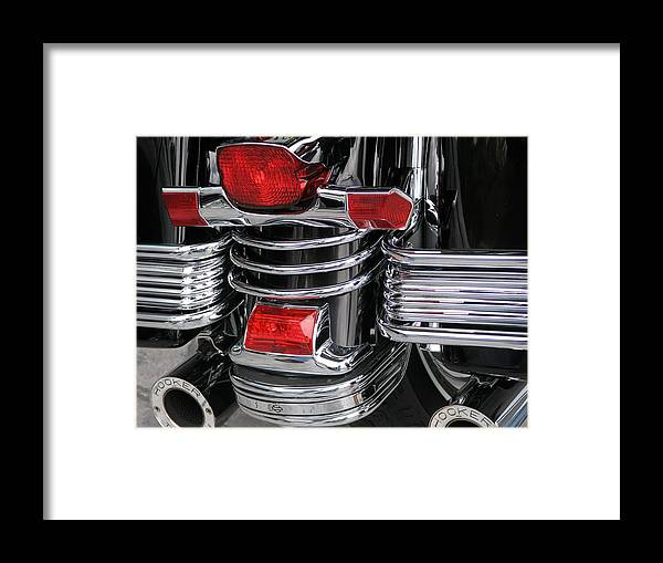 Harley Framed Print featuring the photograph Midnight Ride by Jim Derks