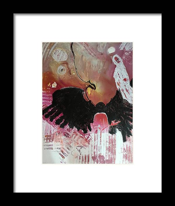 Black Framed Print featuring the painting Midnight Serenade by Carole Johnson