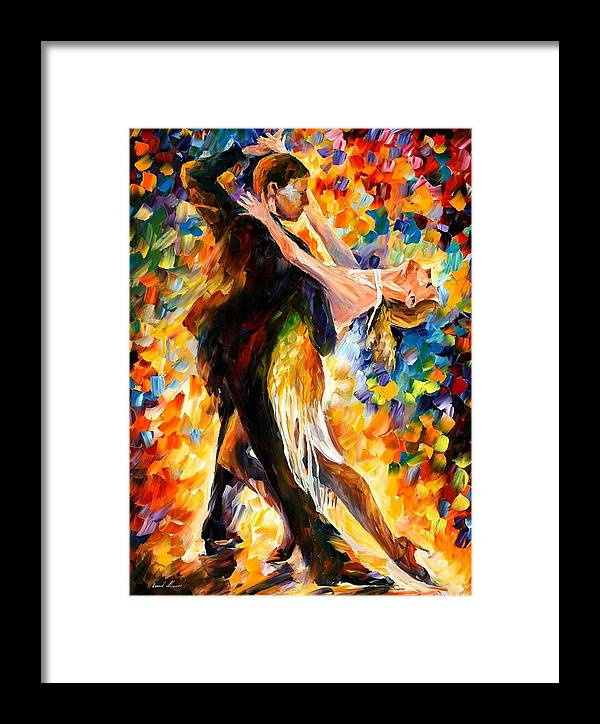 Afremov Framed Print featuring the painting Midnight Tango by Leonid Afremov