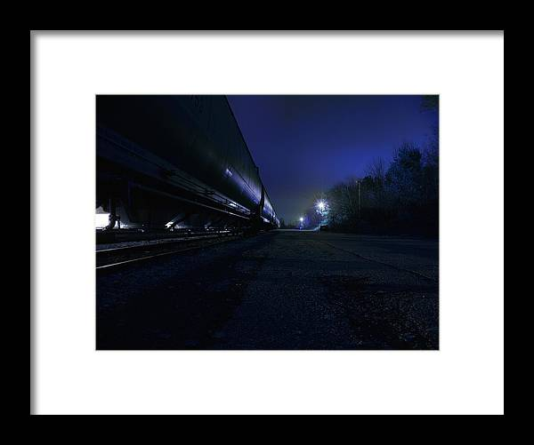 Night Framed Print featuring the photograph Midnight Train 1 by Scott Hovind