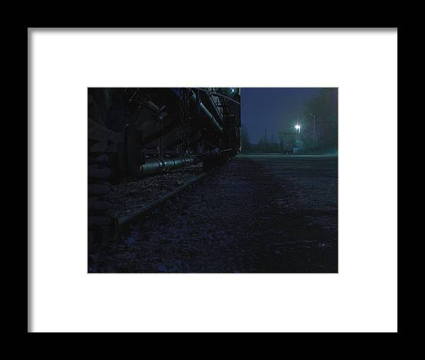 Midnight Framed Print featuring the photograph Midnight Train 2 by Scott Hovind