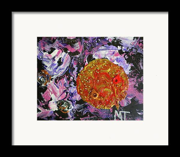 Earth Framed Print featuring the painting Midnight Transit Planet by Dylan Chambers