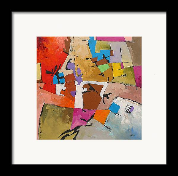 Original Framed Print featuring the painting Midnight Trip by Linda Monfort