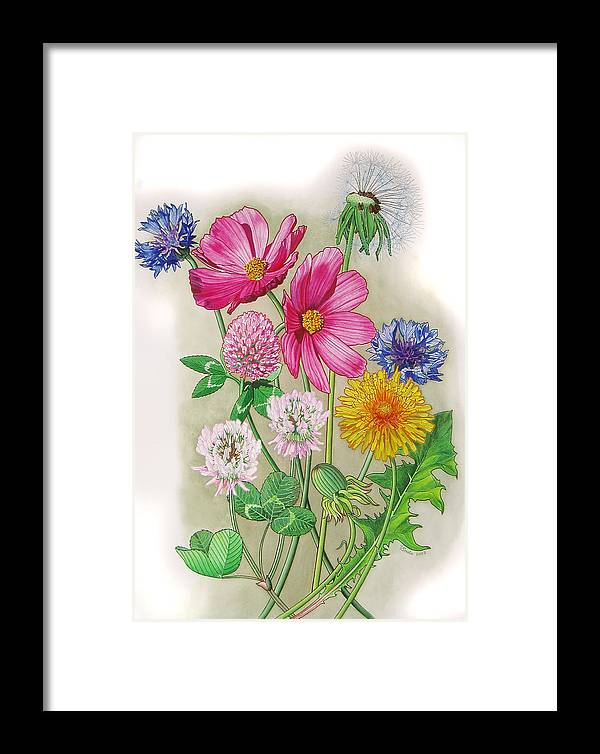 Flowers Framed Print featuring the painting Midsummer Day Dream by Vlasta Smola