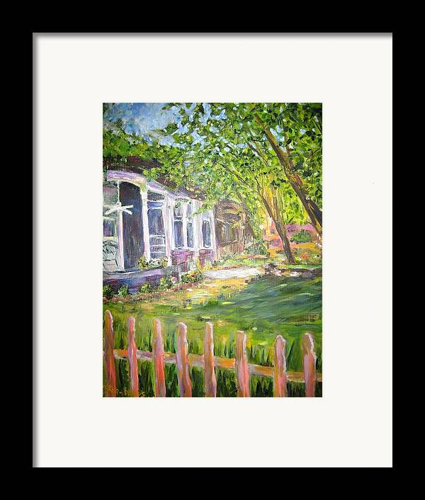 Landscape Framed Print featuring the painting Midtown 4 by Impressionist FineArtist Tucker Demps Collection