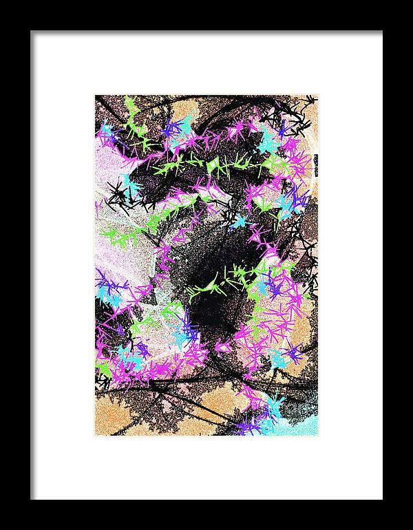 Mighty Mouse Framed Print featuring the drawing Mighty Mouse - Abstract by Dee Winslow