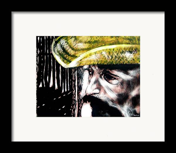 Framed Print featuring the mixed media Miguel by Chester Elmore