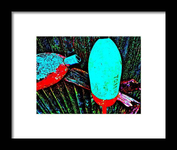 Abstract Framed Print featuring the photograph Mike's Art Fence 126 by George Ramos