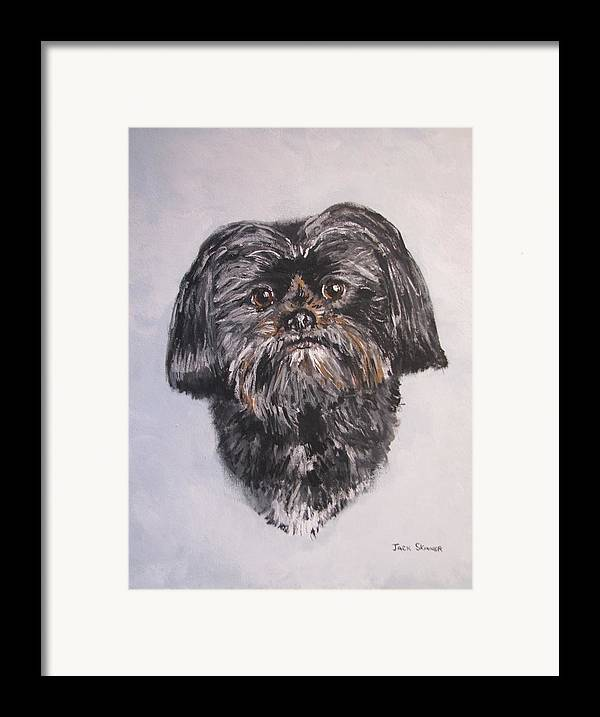 Dog Framed Print featuring the painting Mikey by Jack Skinner