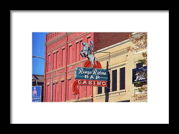 America Framed Print featuring the photograph Miles City, Montana - Downtown Casino by Frank Romeo