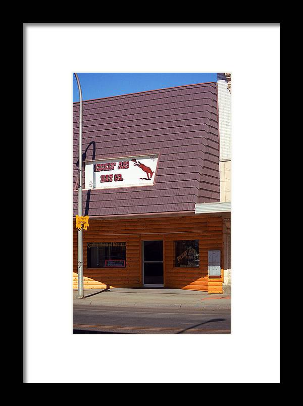 America Framed Print featuring the photograph Miles City, Montana - Downtown by Frank Romeo