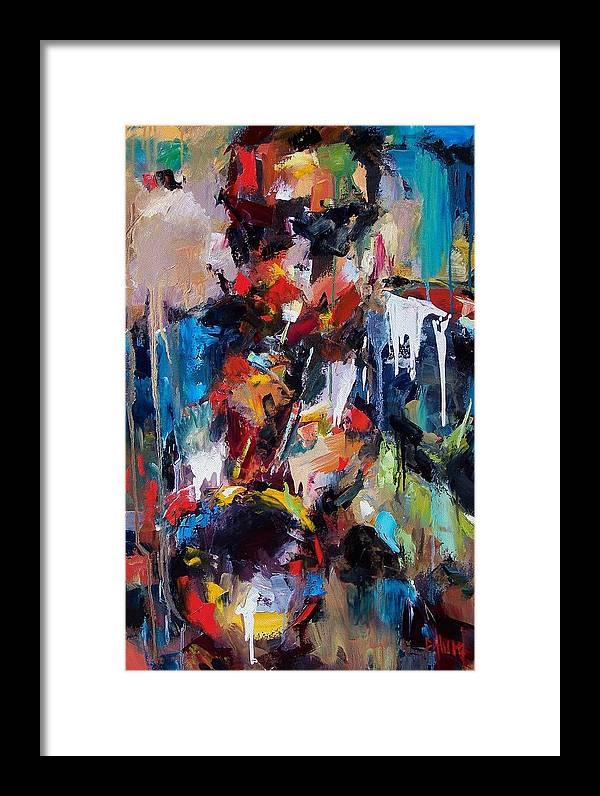 Jazz Art Framed Print featuring the painting Miles Davis 2 by Debra Hurd