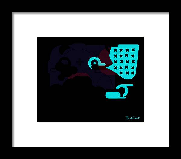 Miles Davis Framed Print featuring the print Miles Davis Abstract by Bill ONeil