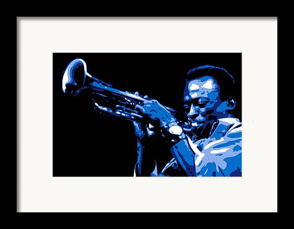 Miles Davis Framed Print featuring the digital art Miles Davis by DB Artist