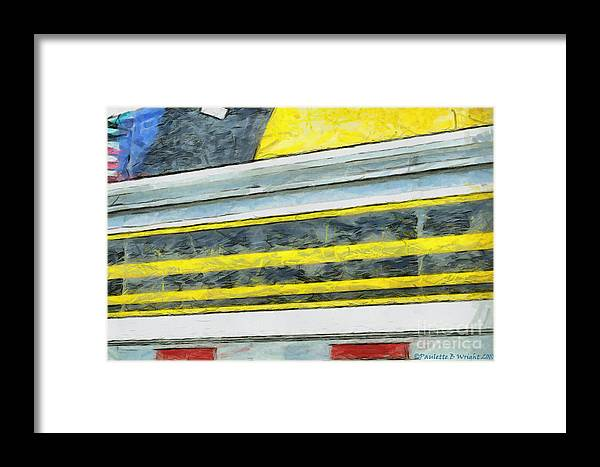 Black Framed Print featuring the photograph Miles To Go I by Paulette B Wright