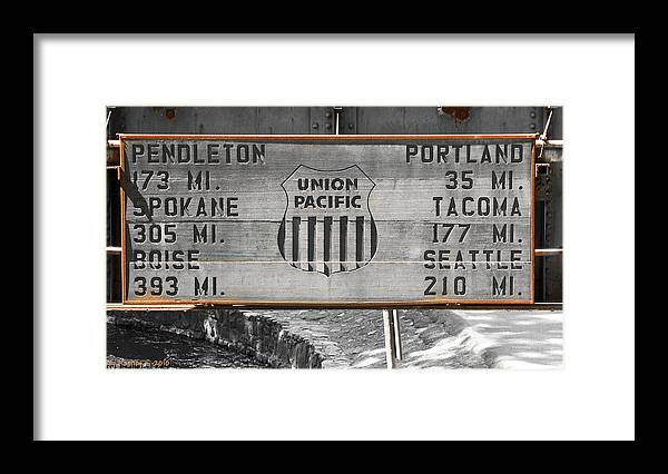 Union Pacific Framed Print featuring the photograph Miles To Go by Larry Keahey