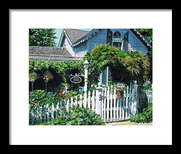 Rural Framed Print featuring the painting Milford House by William Brody