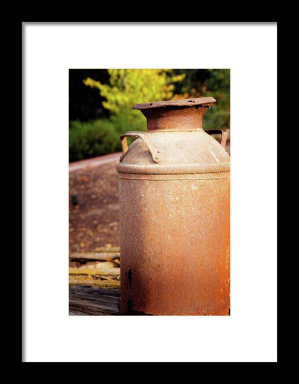 Metal Framed Print featuring the digital art Milk Jug by Terry Davis