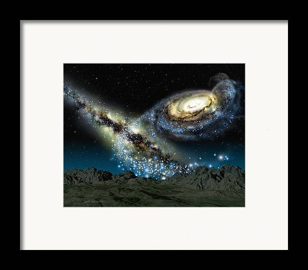 lynette Cook Framed Print featuring the painting Milkomeda by Lynette Cook
