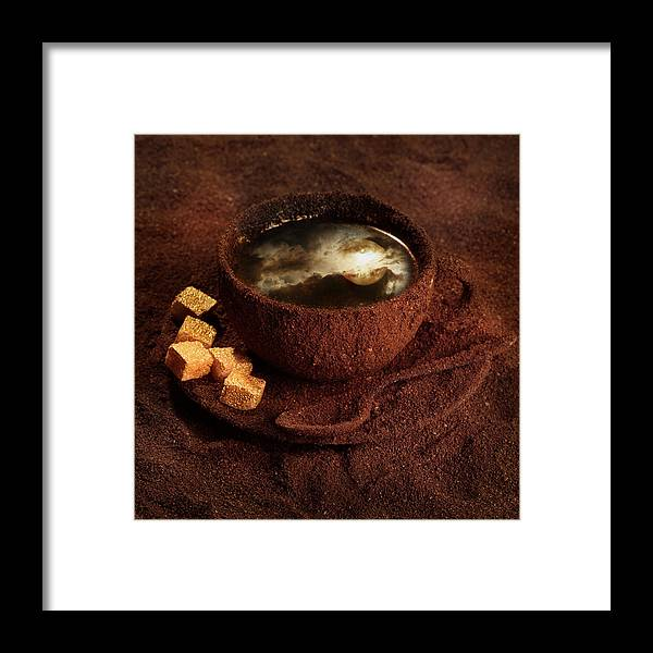 Coffee Framed Print featuring the photograph Milky moonlight by Floriana Barbu