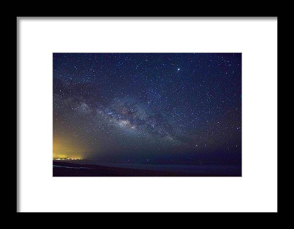 Framed Print featuring the photograph Milky Way by Brittney Kane