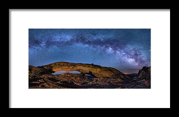 Utah Framed Print featuring the photograph Milky Way Over Mesa Arch by Michael Ash