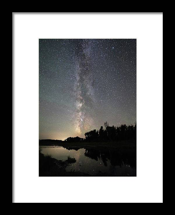 Astrophotography Framed Print featuring the photograph Milky Way Over Schwabacher's Landing by Jean Clark