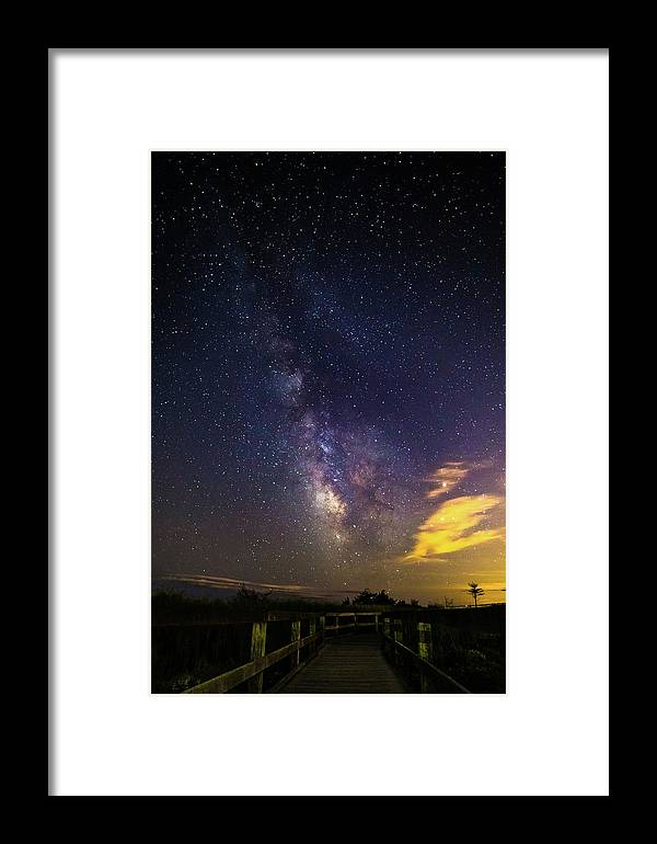 Photography Framed Print featuring the photograph Milky Way Over The Boardwalk by Justin Starr