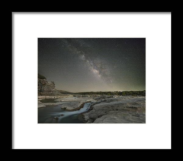 Texas Hill Country Images Framed Print featuring the photograph Milky Way Over The Texas Hill Country 2 by Rob Greebon