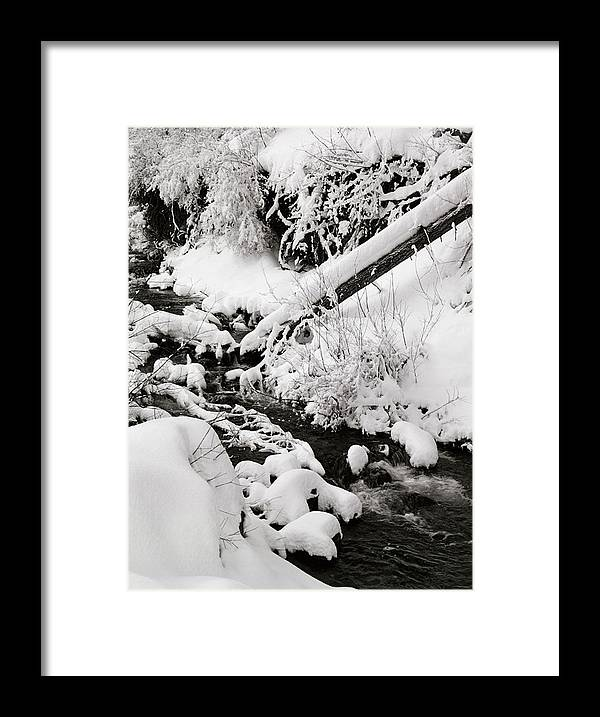 Mill Creek Framed Print featuring the photograph Mill Creek Canyon in Winter by Dennis Hammer