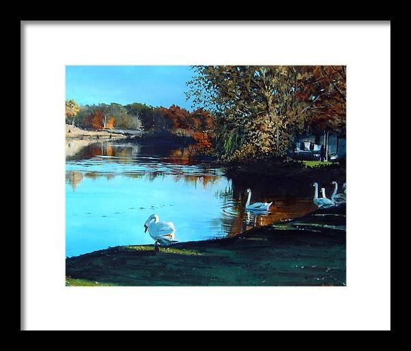 Pond Framed Print featuring the painting Mill Pond by William Brody