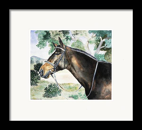 Portrait Framed Print featuring the painting Millie by Eileen Hale