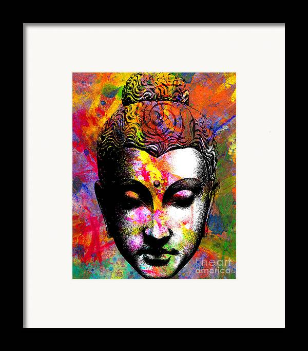 Ancient Framed Print featuring the digital art Mind by Ramneek Narang
