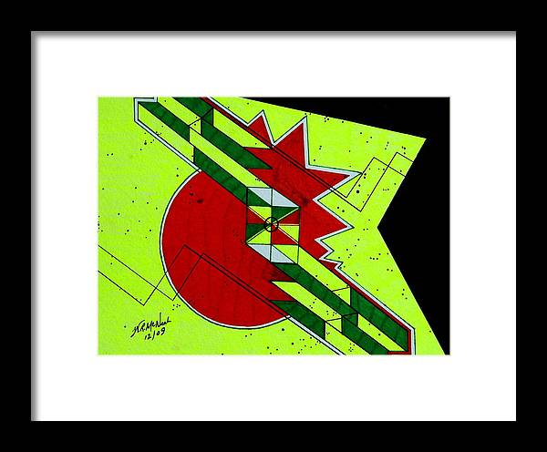 Op Framed Print featuring the painting Mind Stroke by Willie McNeal