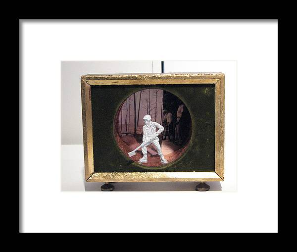 Soldier Framed Print featuring the sculpture Mindsweeper by Kyle Ethan Fischer