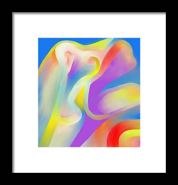 Colorful Framed Print featuring the digital art Mingling by Peter Shor