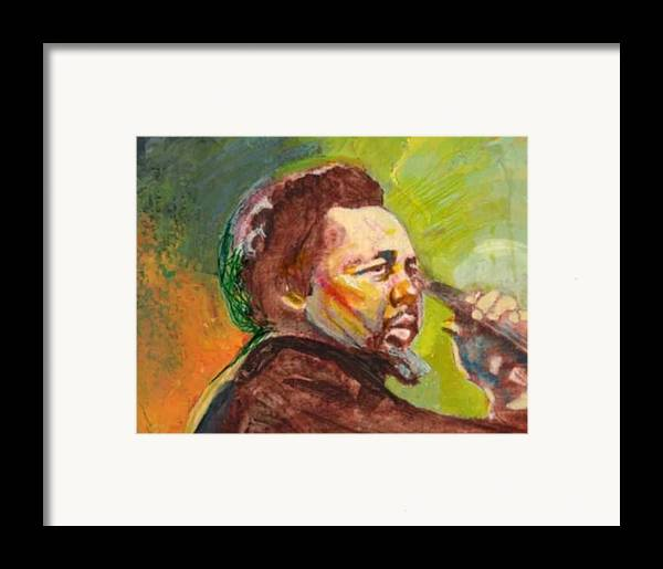 Charles Mingus Framed Print featuring the painting Mingus by Michael Facey