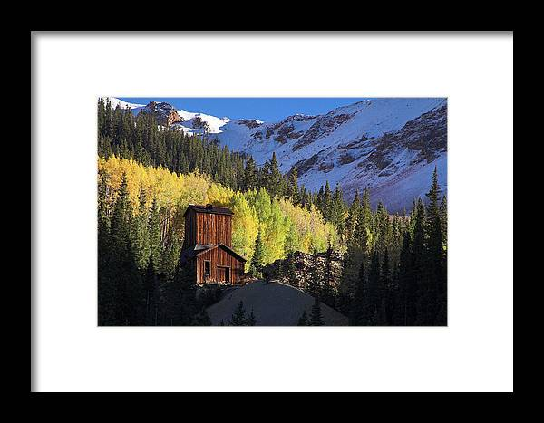 Colorado Framed Print featuring the photograph Mining Ruins by Steve Stuller